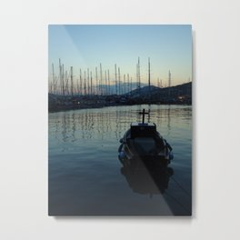 boat and sea Metal Print