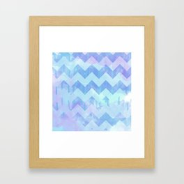 Watercolour Chevron {Spring 2015 Limited Edition} No. 2 Framed Art Print
