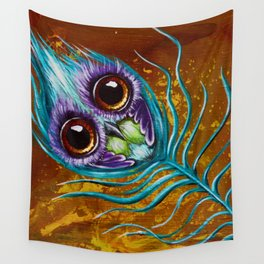 peacockfeather Wall Tapestry