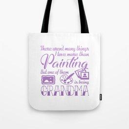 Painting Grandma Tote Bag