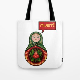 Russian Doll NYET! Tote Bag