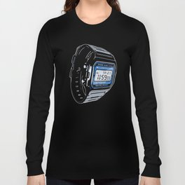 Casio F-105 Digital Watch Long Sleeve T-shirt
