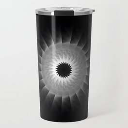 Gray Kaleidoscope Art 1 Travel Mug