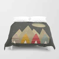 paradise Duvet Covers featuring paradise by bri.buckley