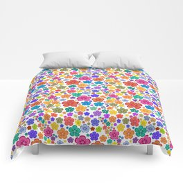 New age flower power Comforters