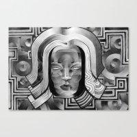 art deco Canvas Prints featuring Deco by Mouseizm
