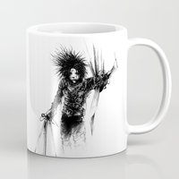 edward scissorhands Mugs featuring Edward Scissorhands by Karbon-K