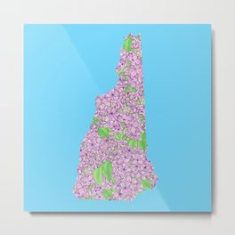 New Hampshire in Flowers Metal Print