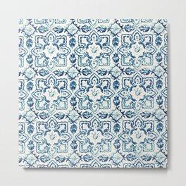 Azulejo IV - Portuguese hand painted tiles Metal Print