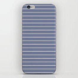 Blue Gray Stripes iPhone Skin