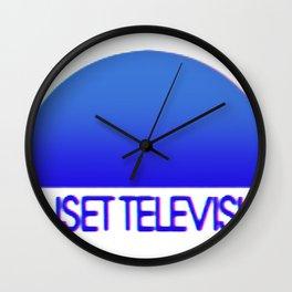 Sunset Television Logo Blue Wall Clock