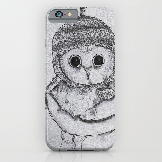 Bobble Hat Owl iPhone & iPod Case
