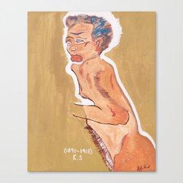 NUDE egon schiele by T'Mculus' Soul Canvas Print