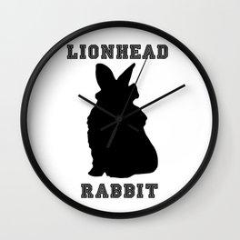 Lionhead Rabbit Silhouette Wall Clock