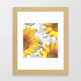 Sunflower Bouquet #decor #society6 #buyart Framed Art Print