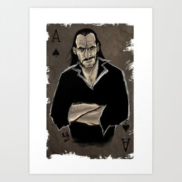The Real Ace of Spades Art Print