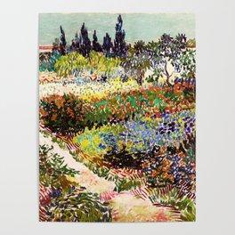 Vincent Van Gogh Flowering Garden Poster