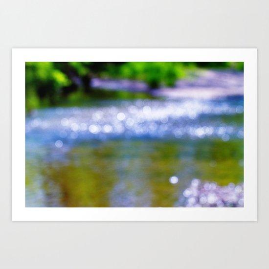 blurry bokeh creek Art Print