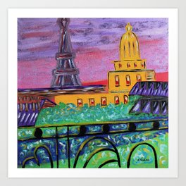 Paris by artbykost Art Print