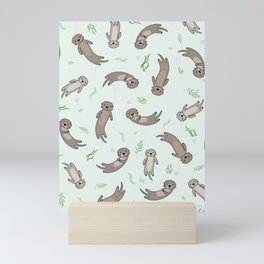 Cute Kawaii Otter Mini Art Print