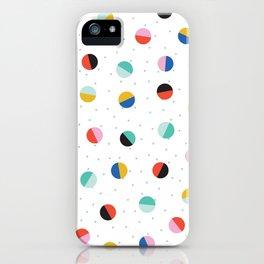 Color Block Dots iPhone Case