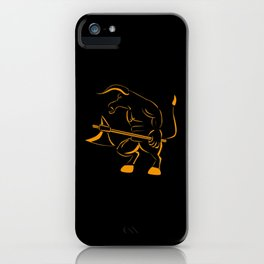 Minotaur With Ax iPhone Case