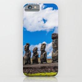 Moai Island Rapa Nui Landscape iPhone Case