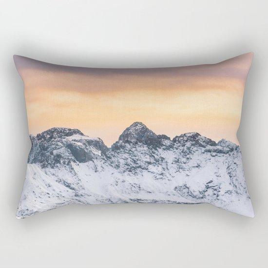 Pastel Mountains #sunset Rectangular Pillow