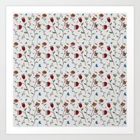 spice Art Prints featuring Floral Spice by Itaya Art