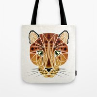 leopard Tote Bags featuring leopard by Manoou