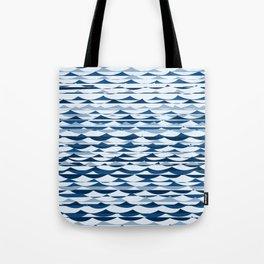 Glitch Waves - Classic Blue Tote Bag
