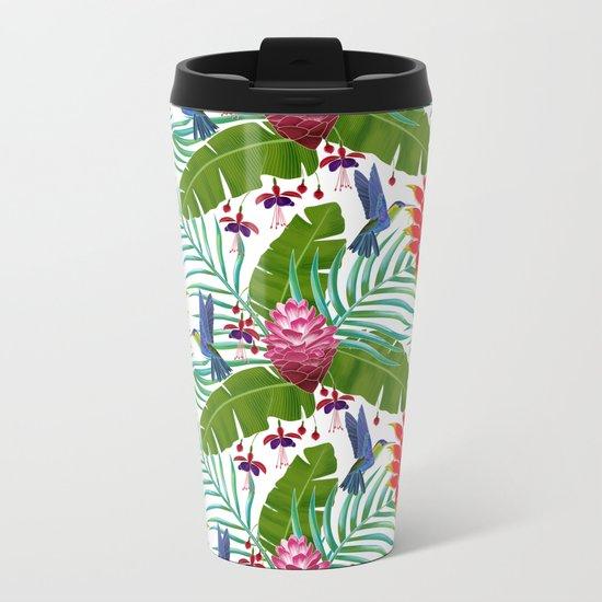 Hummingbird in the Rainforest Metal Travel Mug