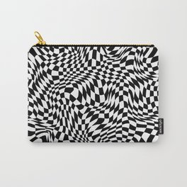 TIME MOVES SLOWLY (warped geometric pattern) Carry-All Pouch