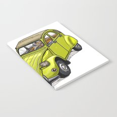 Yellow 2CV Notebook