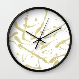Gold drops Wall Clock