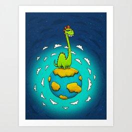 Dynoplanet Art Print