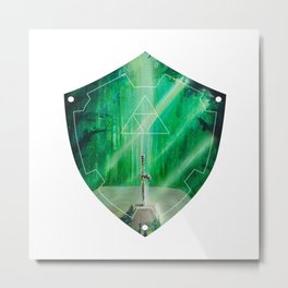 Hylian Shield (Master Sword in the Lost Woods) Metal Print