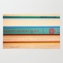 Hickory Dickory Death - Vintage Mystery Book Rug