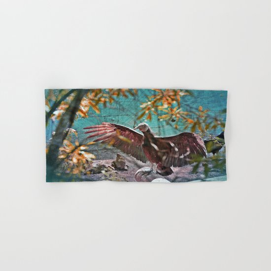 Vulture Rise of the Fire Wizard Hand & Bath Towel