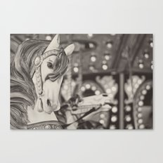 Kid at heart - Black & White Canvas Print