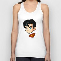 superman Tank Tops featuring Superman by studio1six