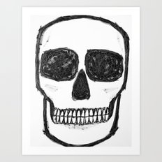 No. 89 - Black and white skull Art Print