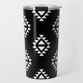 Linocut southwest minimal pattern black and white print scandinavian minimalism Travel Mug