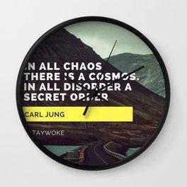 Carl Jung Order Chaos Wall Clock