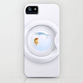 (Very) Clean Goldfish iPhone Case