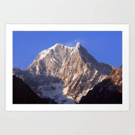 Nilgiri South 6839m Art Print