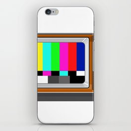 Retro Television Set TV Test Card Signal Pattern iPhone Skin