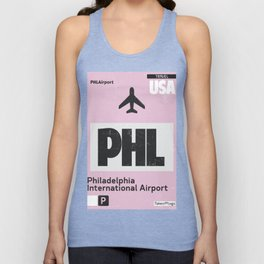 PHL Philadelphia airport code Unisex Tank Top