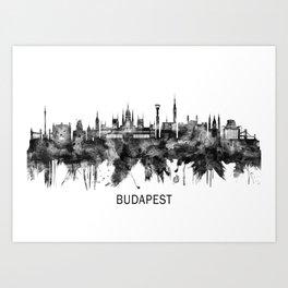 Budapest Hungary Skyline BW Art Print