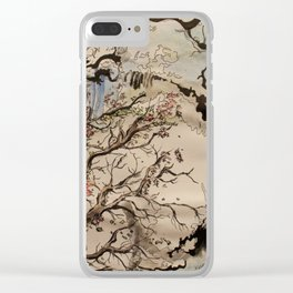 Tsunami Abstraction Clear iPhone Case